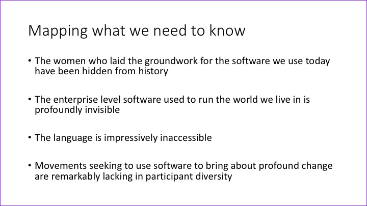 Slide: Mapping what we need to know