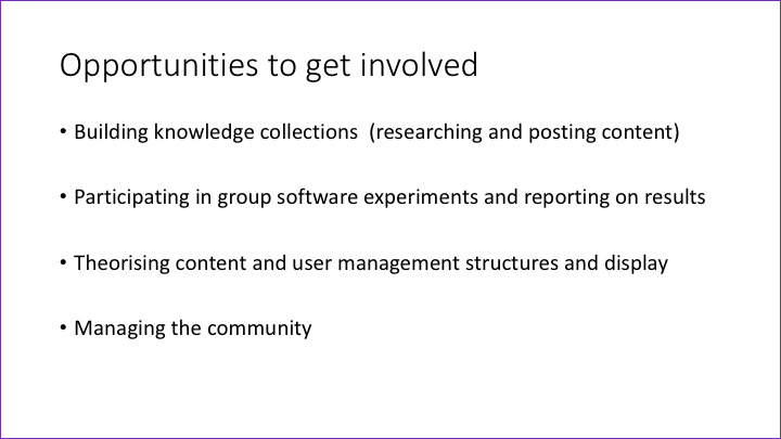 Slide: Opportunities to get involved