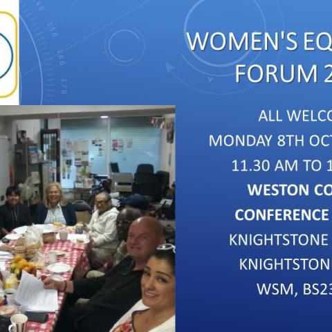 North Somerset BME Network womens equality forum 2018 in Weston College