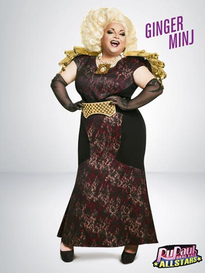 Ginger Minj's promotional picture for 'RuPaul's Drag Race: All Stars'
